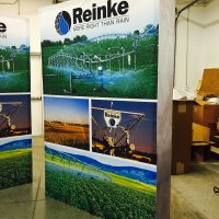 Reinke 6x8 HopUp display designed by Vision Exhibits