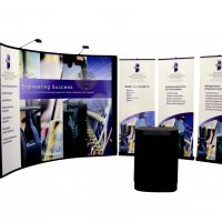 10x20 Instand and bannerstands designed by Vision Exhibits.
