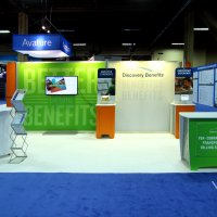 10x20 Island Exhibit Rental designed by Vision Exhibits