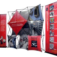 10x30 XPlus and Bannerstands provided by Vision Exhibits
