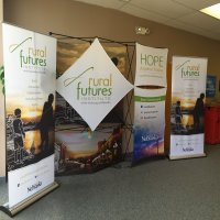 XPlus and bannerstands provided by Vision Exhibits.