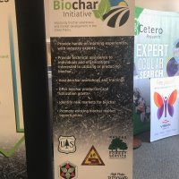 Nebraska Forest Service Biochar Bannerstand designed by Vision Exhibits