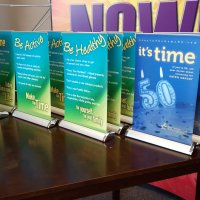 Breeze2 Mini Bannerstands designed by Vision Exhibits