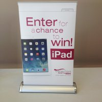 Breeze2 mini bannerstand provided by Vision Exhibits