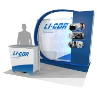 10x10 Custom Extusion and Fabric exhibit by Vision Exhibits.