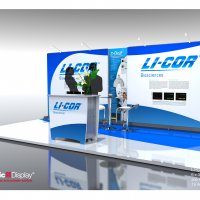 Vision Exhibits provided LI-COR with the HangTen to adapt to 3m and 6m international booth spaces.