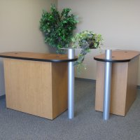 DesignLine custom counters by Vision Exhibits.