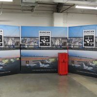 10x10 FabriMurals align for multiple events from Vision Exhibits.