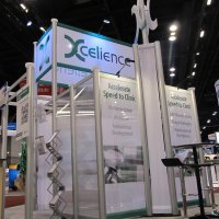 20x20 Island Exhibit Rental designed by Vision Exhibits