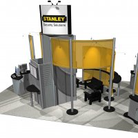 20x30 Island Exhibit Rental designed by Vision Exhibits