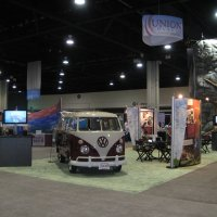 20x60 Island Exhibit Rental designed by Vision Exhibits